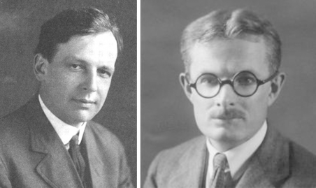 Charles E. Merriam (left) and Quincy Wright helped launch the quantitative study of international relations in the aftermath of World War I.
